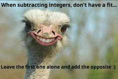 Subtracting integers