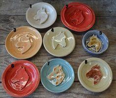 Handmade Pottery Horse Soap Dishes
