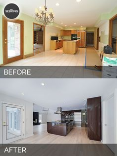 Before & After Kitchen Oak Brook - Sebring Design Build