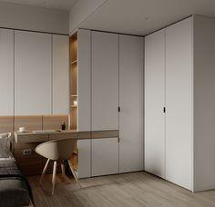 Girls Room Design, Study Room Design, Modern Interior Design, Interior Styling, Interior Architecture, Home Office Design, House Design, Divider Design, Bedroom Cupboard Designs