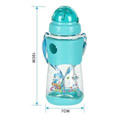 Momy And Angel Kids Bottles Straw Cup with Sling Child Bottle Sippy Cups Children Learn Drinking Water Straw Training Cup gift