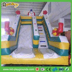 lovely clown large inflatable dry slide