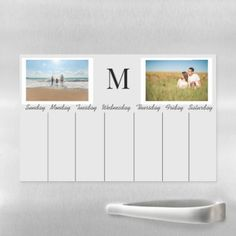 Shop Weekly Calendar Dry Erase Reusable Photo Monogram Magnetic Dry Erase Sheet created by ColorFlowCreations. Dry Erase Calendar, Magnetic Calendar, Free Printable Weekly Calendar, Dry Erase Markers, Kitchen Gifts, Diy Photo, Cleaning Wipes, Magnets, Monogram