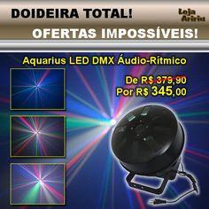 DOIDEIRA TOTAL! OFERTAS IMPOSSÍVEIS! Aquarius LED DMX Áudio-Rítmico - De R$ 379,90 Por apenas R$ 345,00 em http://www.aririu.com.br/multi-raio-de-sol-aquarius-led-rgbw-dmx-audioritmico-bivolt_9xJM