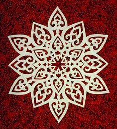 The Quilt Rat: snowflakes Paper Snowflake Designs, Paper Snowflakes, Snowflake Pattern, Snowflake Snowflake, Kirigami, Paper Cutting, Paper Art, Paper Crafts, Paper Ornaments