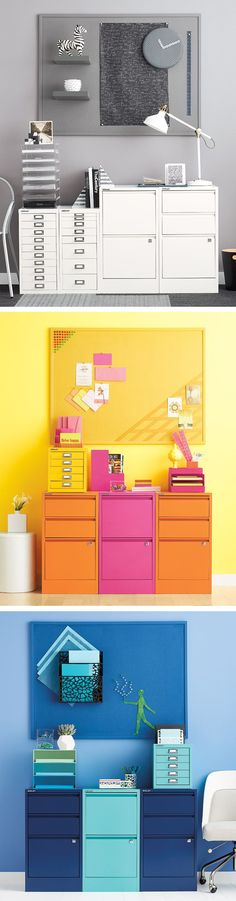 File it all away and still proudly display with our colorful collection of Bisley File Cabinets!