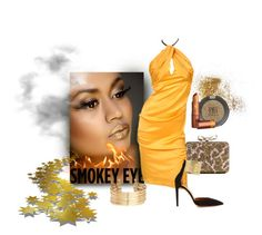 """""""Smokin'"""" by michelletheaflack ❤ liked on Polyvore featuring beauty, Iman, Christian Louboutin, Aquazzura, Topshop, Lipstick Queen, H&M and eyes"""