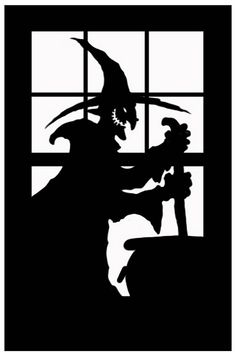 MI36753_SCARY_SILHOUETTE_WITCH.jpg 530×800 pixels: My boys and I do these every Halloween, its a tradition they adore.