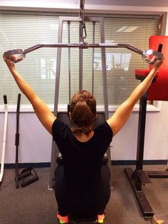 6a. Pull downs, wide hands, hands facing in, back  straight not laying back. 15 reps  2nd circuit, 3 times