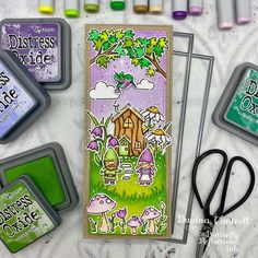 Pop Up, Paper Craft Making, Lawn Fawn Stamps, Distress Oxide Ink, Jumping For Joy, Card Making Inspiration, Color Inspiration, Complimentary Colors, My Stamp