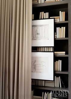 Art over book case | Photo by Erica George Dines Brown Interior, Interior Styling, Interior Decorating, Interior Design, Asian Interior, Modern Colonial, Mid-century Modern, Modern Classic, Interior Inspiration