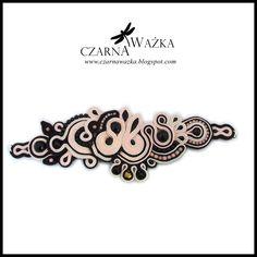 Biżuteria sutasz: Różowo czarna bransoleta sutasz