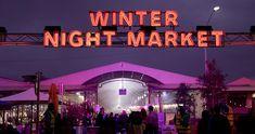 Winter Night Market - Queen Victoria Market Queen Victoria Market, Winter Night, Christmas In July, Live Music, Winter Wonderland, Melbourne, Neon Signs, Marketing