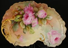Hand Painted Limoges Dresser Set Pink Roses in Pottery & Glass, Pottery & China, China & Dinnerware, Limoges | eBay