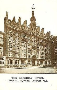London England UK 1907 Imperial Hotel Russell Square Antique Vintage Postcard  #RePin by AT Social Media Marketing - Pinterest Marketing Specialists ATSocialMedia.co.uk