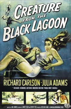 Creature from the Black Lagoon! My favorite scary movie when I was a kid!
