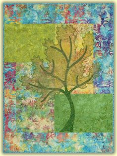 Seasons spring quilt pattern