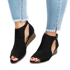 97a5f7a244 Womens Open Toe leather Gladiator Sandal low heel dress shoe Ankle Buckle  Flat
