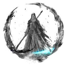 """Soulstober Day Sister Friede """"Tis only the flame, quivering at misguided Ash. Please, avert thine eyes. I will snuff out these ashes for good"""" -Sister Friede Dark Souls 3, Arte Dark Souls, Dark Fantasy Art, Dark Art, Soul Saga, Bloodborne Art, Soul Tattoo, Dragons, Framed Art Prints"""