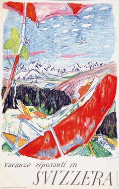 Vacanze riposanti in Svizzera - 1953 - (Alois Carigiet) -