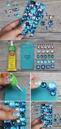 Diy phone case - DIY Projects Embellish Your Phone Cases – Diy phone case Diy Phone Case, Cute Phone Cases, Iphone Cases, Iphone 6, Cellphone Case, Phone Cover, Diy Coque, I Spy Diy, Diy Accessoires