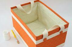 new Ideas art storage bin fabric covered Storage Baskets With Lids, Fabric Storage Boxes, Art Storage, Childrens Bedroom Storage, Ikea Bedroom Storage, Cardboard Recycling, Diy Cardboard, Diy Karton, Fabric Covered Boxes