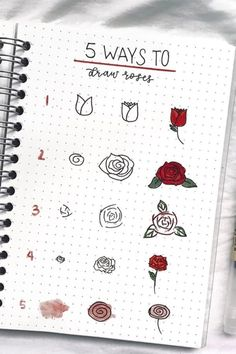 17 Amazing Step By Step Flower Doodles For Bujo Addicts Looking to decorate your. 17 Amazing Step By Step Flower Doodles For Bujo Addicts Looking to decorate Bullet Journal Banner, Bullet Journal Notebook, Bullet Journal Ideas Pages, Bullet Journal Inspiration, Journal Prompts, Bullet Journals, Doodle Drawings, Easy Drawings, Pencil Drawings