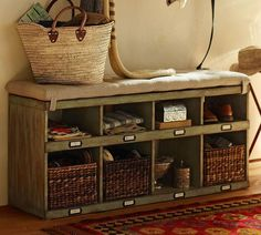 Pottery Barn Olivia Entry Bench....Colin is totally making this!