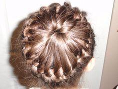 Continuous braid around the head