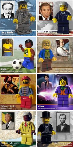 Famous People in LEGO Minifigure