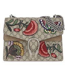 GUCCI Dionysus Medium Leather Shoulder Bag. #gucci #bags #shoulder bags #leather #