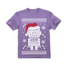 dd6e0aad Cute Robot Santa Ugly Christmas Sweater - Funny Xmas Toddler Kids T-Shirt