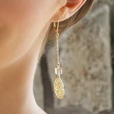 SEOIDIN - Crochet in 14kt gold Crystal Drop, Handmade Design, Gold Necklace, Drop Earrings, Jewellery, Bridal, Crystals, Crochet, Ideas