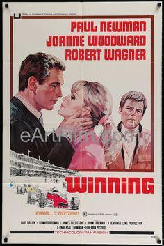 Winning-1966-27x41-Paul Newman-Joanne Woodward-Vintage Movie Poster