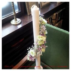 Lumanari botez sau nunta Peacock Crafts, Corsage, Scented Candles, Wedding Flowers, Easter, Table Decorations, Bridal Bouquets, Home Decor, Floral Design