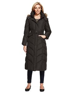 Ladies Long Down Filled Coats