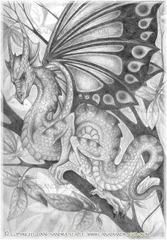 Canadian Dragon Fantasy Art Original Pencil Fairy Drawing Design 550x790 Pixel