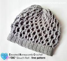 Elevated Honeycomb Crochet (EHC Slouch Hat) - free pattern by Erangi Udeshika at Crochet for you.