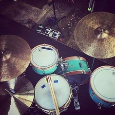 @_derek_allard_'s #agop 30th Anniversary and Traditional combo paired with those cool sea foam #candcdrums. #istanbulagop #cymbals