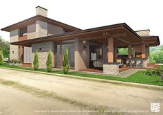 4 Bedroom House Plans, Dream House Plans, Bungalow House Design, Modern House Design, Modular Home Plans, Modern Lodge, Outdoor Buildings, Casa Patio, Contemporary Home Furniture