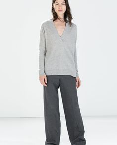 Image 1 of V-NECK CASHMERE SWEATER from Zara