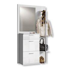 Weiße Komplett - Garderobe Vroni #weiß #möbel #garderobe
