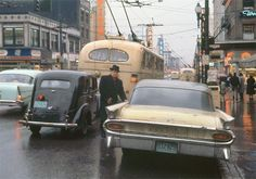 Man in Black Hat - photo by Fred Herzog -Granville Street, Vancouver, what back when....