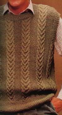 Créditos: aqui .  Tamanho: 48/50  Material: Agulhas para tricô n.º 4, 8 novelos de lã compatível.   Pontos Empregados: Ponto arroz, Ponto...