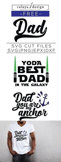 FREE SVG Cut File Father's Day quote. Yoda Best Dad SVG cut file. Printable vector clip art download. Compatible with Cameo Silhouette, Cricut explore and other major cutting machines. 100% for personal use, only $3 for commercial use. Perfect for DIY craft project with Cricut & Cameo Silhouette, card making, scrapbooking, making planner stickers, making vinyl decals, decorating t-shirts with HTV and more! Free SVG, Dad You are my anchor SVG file, free Best Dad SVG, Father's Day SVG
