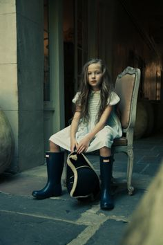 Dress by Lylian, boots by Hunter, girls fashion photographed by Allie Cotrill