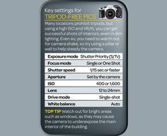 In our new cheat sheet we suggest some of the best camera settings for to use to give yourself the best advantage shooting handheld. Remember, these are just a starting point. Master these and from there you can exploring your creativity!