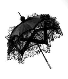 Sombrilla de Encaje Negro