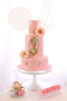 Wow! What an stunning Pink Marie Antoinette Birthday Cake!! You're not going to want miss this Birthday Party!! See more party ideas at CatchMyParty.com