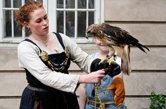 A Viking and her falcon